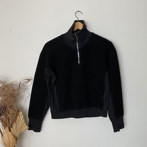 lululemon | Black Stand Out Sherpa Half Zip | 2